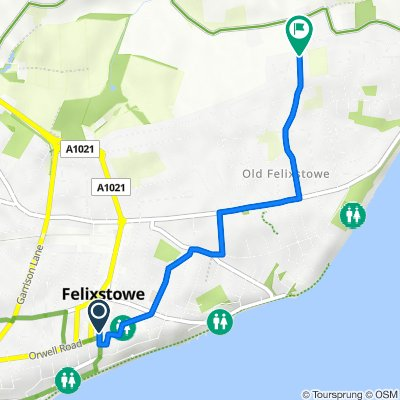 26 Hamilton Road, Felixstowe to 79 Ferry Road, Felixstowe
