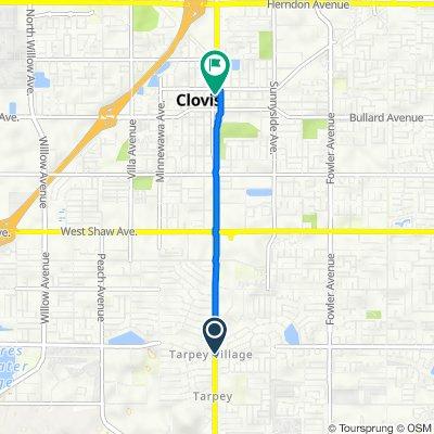 5608 E Ashlan Ave, Fresno to 325 Clovis Ave, Clovis