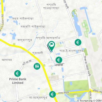 Kamal Soroni, Dhaka to Kamal Soroni, Dhaka