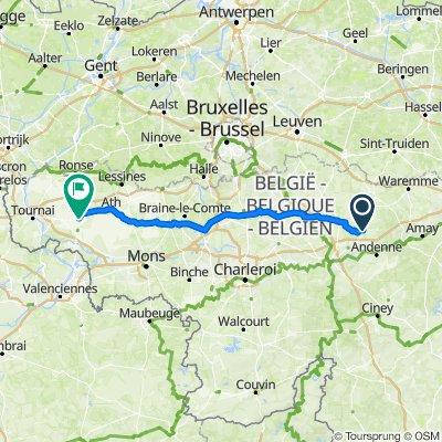 De Rue du Tilleul 6, Fernelmont à Tour Saint-Pierre 7, Leuze-en-Hainaut