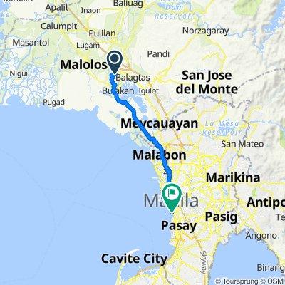 Ilang-Ilang Street 852, Guiguinto to Baywalk, Manila