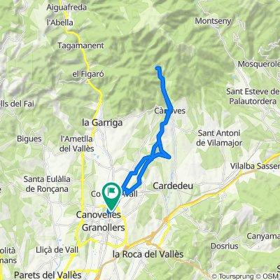 De Calle de Girona, 42B, Les Franqueses del Vallès a Calle de Extremadura, 27, Les Franqueses del Vallès
