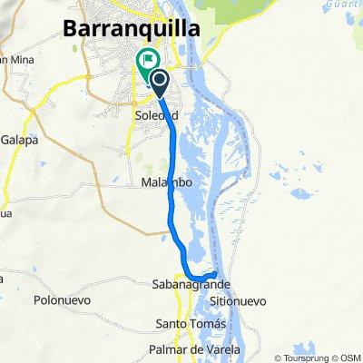 De Soledad a Carrera 2a 34827, Barranquilla