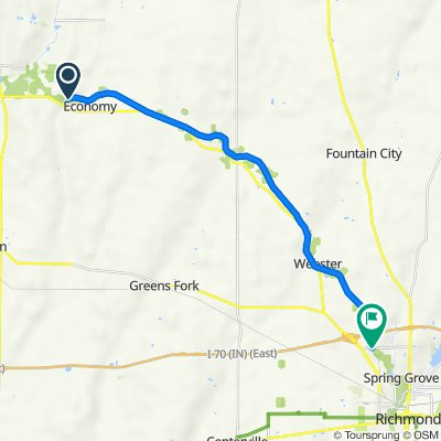 Route to 730–782 Industries Rd, Richmond