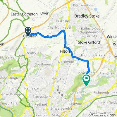 33 New Charlton Way, Bristol to 1 River View, Bristol