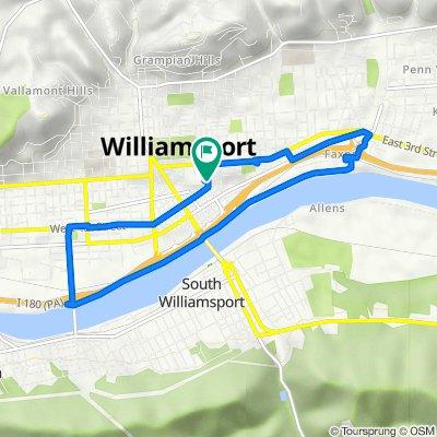 615 Franklin St, Williamsport to 615 Franklin St, Williamsport
