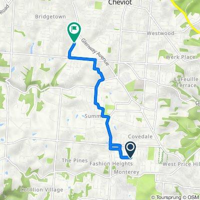 5141 Highview Dr, Cincinnati to 3310 Westbourne Dr, Cincinnati