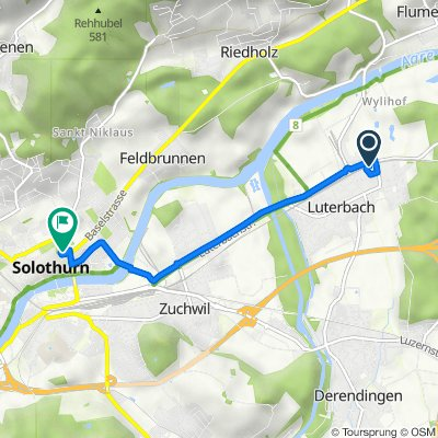 Grüttbachstrasse 10, Luterbach nach Baselstrasse 3, Solothurn