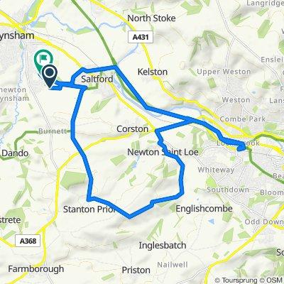 Tyning, Courtenay Road, Bristol to 27 Martock Road, Bristol