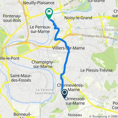 De 44 Rue Jules Guesde, Ormesson-sur-Marne à 46 Rue Pierre Brossolette, Bry-sur-Marne