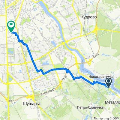 От Советский проспект, 31к4, Санкт-Петербург до Заставская улица, Санкт-Петербург