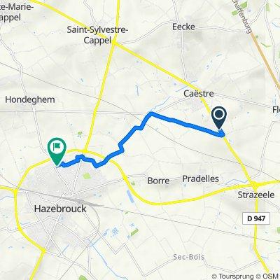 De 1468 Route de Strazeele, Caëstre à 5 Rue des Résédas, Hazebrouck