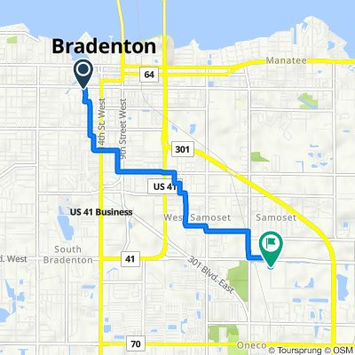 914 17th St W, Bradenton to 4455 18th St E, Bradenton