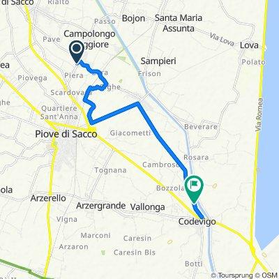 Da Via Piera 6/L, Campolongo Maggiore a Via Brentella 9, Codevigo