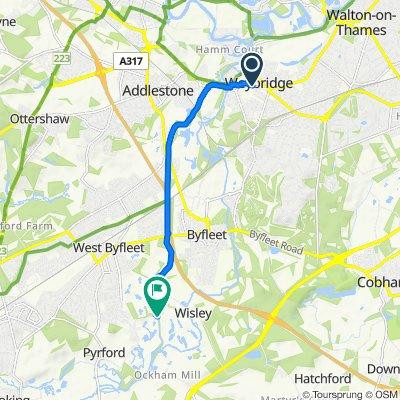 Bentley Place, 59 Baker St, Weybridge to Wisley Lane, Wisley, Woking