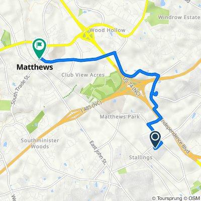1227 Flowe Dr, Stallings to 251 N Trade St, Matthews