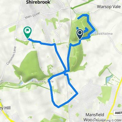 Bath Lane, Sookholme, Mansfield to 2 Scarlet Way, Mansfield
