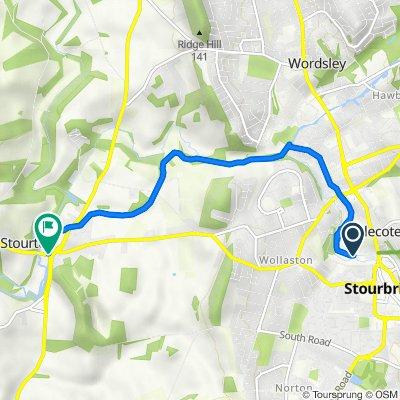 Bradley Road 60 to The Stewponey 5, Stourton