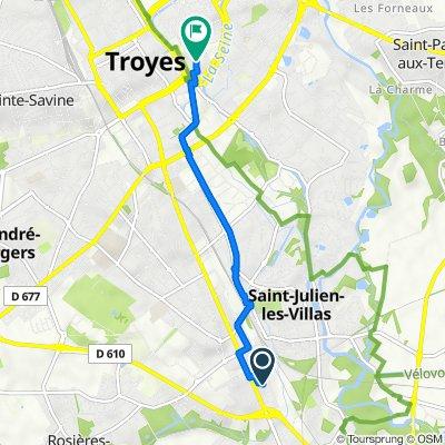 De 10 Rue Jean Verrier, Bréviandes à 9–27 Rue de la Planche Clément, Troyes
