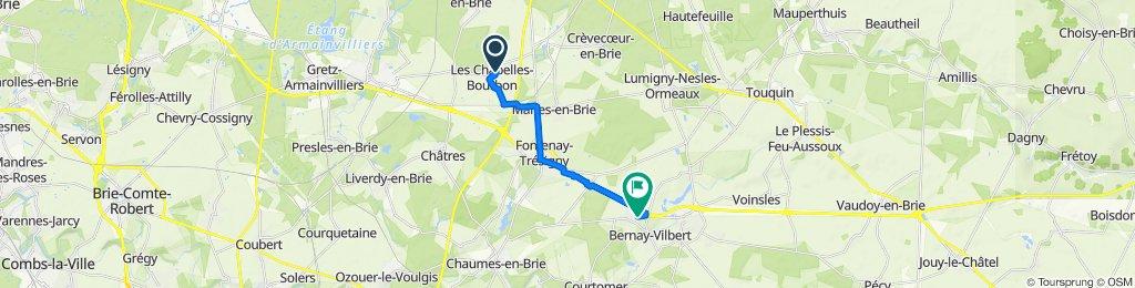 De Rue Est Jodelle 14, Les Chapelles-Bourbon à Route de Rozay, Bernay-Vilbert
