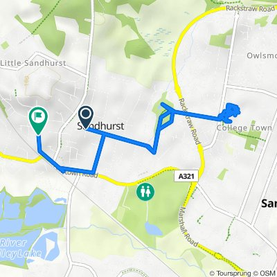 60 Wellington Road, Sandhurst to 36 Scotland Hill, Sandhurst