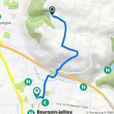 De 32–46 Chemin des Bâties, Bourgoin-Jallieu à 1–5 Rue des Imprimeurs, Bourgoin-Jallieu