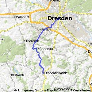 Dresden - Dippoldiswalde durch den Rabenauer Grund