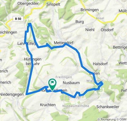 Hommerdingen>Stockigt>Enzen>Mettendorf>Lahr>Huttingen>Kewenig>Hommerdingen