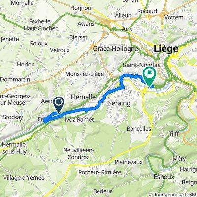 De Rue Louis Legrand, Flémalle à Rue de l'Avouerie 6–48, Liège