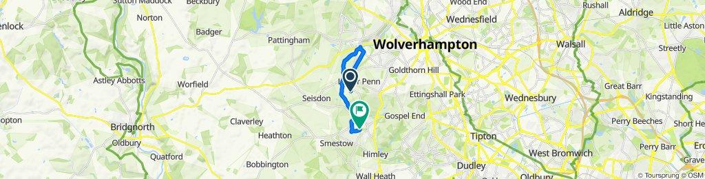 Arawak, Blackpit Lane, Wolverhampton to 36 Kirkstone Crescent, Wolverhampton