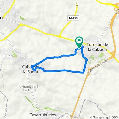 De Calle Manuel Fraga Iribarne, 39, Torrejón de la Calzada a Calle Manuel Fraga Iribarne, 41, Torrejón de la Calzada