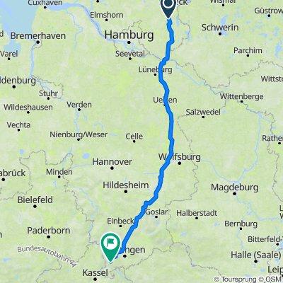 Taubenweg 5, Rondeshagen to Am Heiferbach, Scheden
