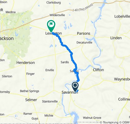 A Savannah TN to Lexington TN