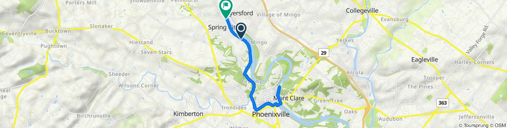 Gay Street 80, Phoenixville to Riverside Drive 4, Spring City