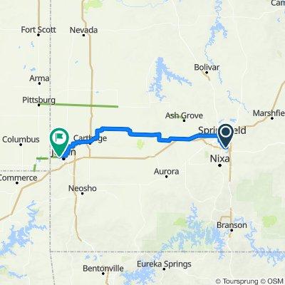 I Springfield MO to Joplin MO