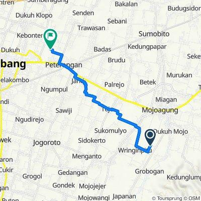 Grogolan, Kecamatan Mojowarno to Unnamed Road, Kecamatan Peterongan