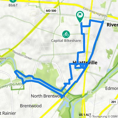 6104 44th Ave, Riverdale Park to 6104 44th Ave, Riverdale Park