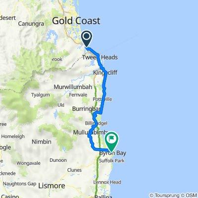 Route to 61 Jonson Street, Byron Bay