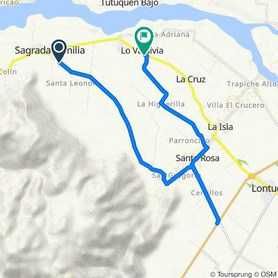 De Calle 2, Sagrada Familia a Cruce Ruta 5 (Lontué) - Villa Prat - Cruce K-60, Sagrada Familia