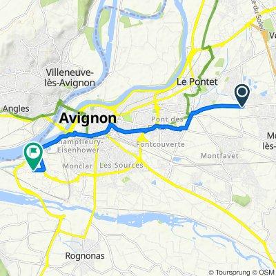 De D28 1894, Avignon à Rue Sainte-Geneviève 802A, Avignon