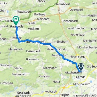 Route nach Niedlingsgasse 12, Stadtroda