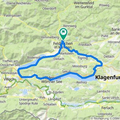 RR-Flach: HA-Maltschach-KleinSV-Wölfnitz-Krumpendorf-Pörtschach-Velden-Ossiach-FE-HA