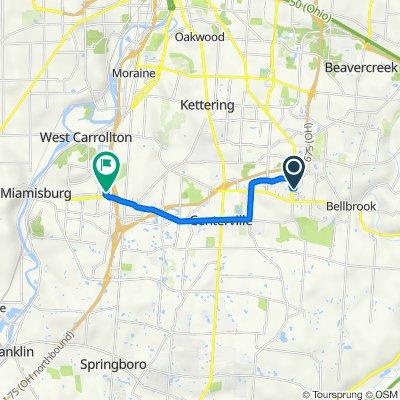 6290 Wilmington Pike, Dayton to 3 Kerry Ct, West Carrollton