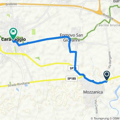 Da Strada Statale 11 10, Mozzanica a Via Guglielmo Marconi 2–14, Caravaggio