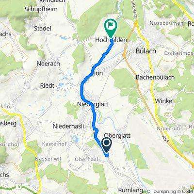 Mäderenweg 17, Oberglatt ZH nach Stadlerstrasse 3, Hochfelden