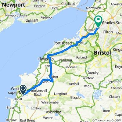 20 Mosquito End, Weston-Super-Mare to 20 New Charlton Way, Bristol