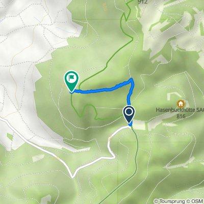 Route von Aagewis, Beggingen