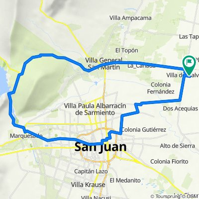 De San Martín, Villa del Salvador a San Martín, Villa del Salvador