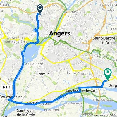 De Avenue René Gasnier 200, Angers à Rue des Fresnayes 2, Les Ponts-de-Cé
