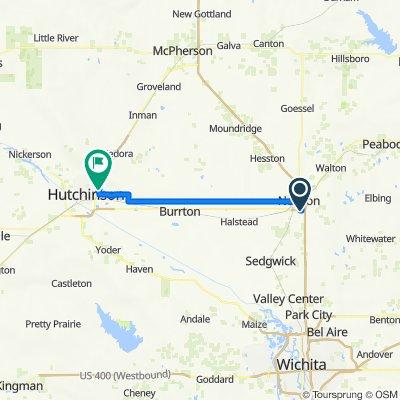 L Newton KS to Hutchinson KS